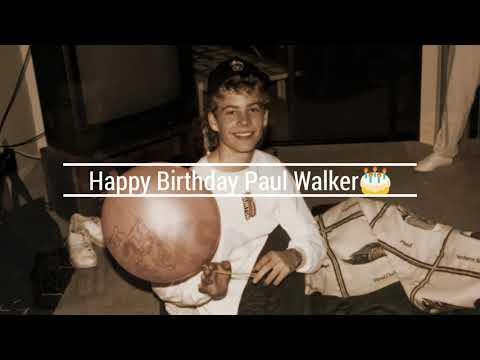 Happy Birthday Paul Walker, you would be 47 today