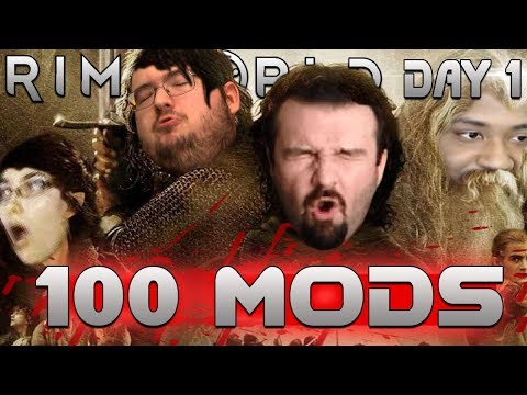 RimWorld with 100 MODS vs WingsOfRedemption, DarksydePhil, and his biggest detractor (Day 1)