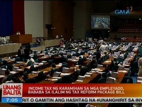 UB: Income tax ng karamihan sa mga empleyado, bababa sa ilalim ng tax reform package bill