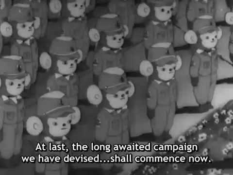 Japanilainen propagandaelokuva - Momotaron taivaalliset soturit