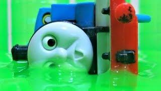 プラレール きかんしゃトーマス スライムで事故発生‼Thomas&friends Slime Plarail