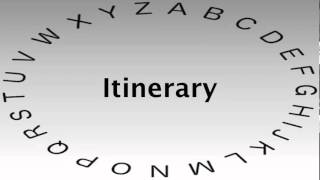 SAT Vocabulary Words and Definitions — Itinerary