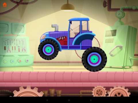 Собираем трактор на заводе видео для детей