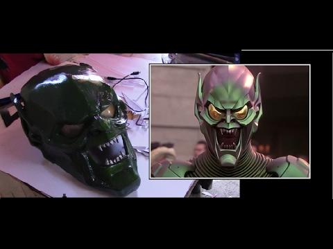 Como hacer la mascara del Duende Verde Part.2 - Green Goblin Mask DIY - PPKRA