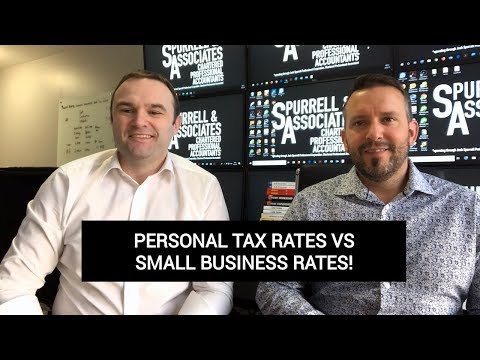 Personal Tax Rates Vs Small Business Rates