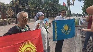 В Кыргызстане митингуют в защиту гражданина Казахстана Муратбека Тунгишбаева