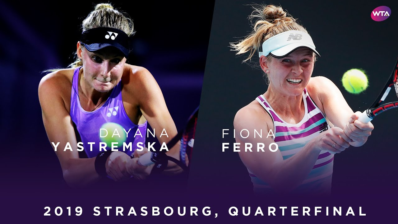Обзор матча Даяна Ястремская - Фиона Ферро на турнире в Страсбурге (ВИДЕО)