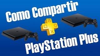 Como compartir PS Plus en PS4 (video corto)