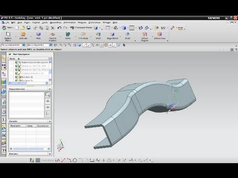Userwish 1 Siemens NX 8.5 Training - Sweep Along Path - Extrusion With Offset Mp3