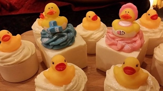 Cold Process Soap Making Nested Rubber Ducky Soaps