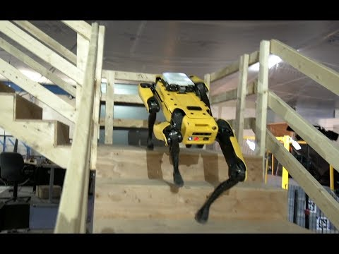 Boston Dynamics: SpotMini autonomously navigating