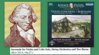 Ignace (Ignaz) Pleyel: Nocturne/Serenade in D major Op.27, Ben 201a, Erdody Chamber Orchestra