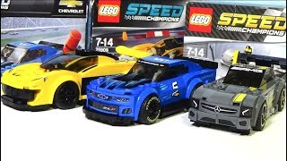 Lego speed champions сразу три набора в обзоре!