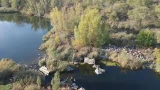 Самый большой водопад в Николаевской области показали с высоты птичьего полета. ВИДЕО