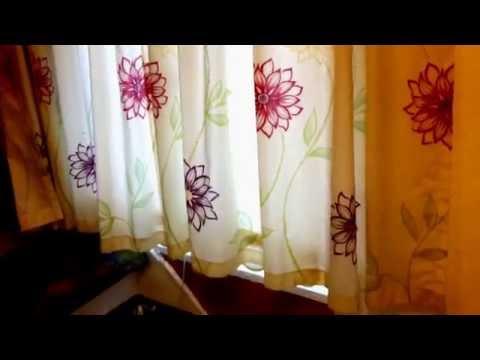Gardinen aufhängen Vorhänge installieren Gardine an Gardinenschiene montieren Vorhang Anleitung