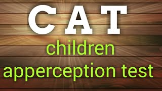 #psychologicaltest #CAT C A T children apperception test with scoring in Hindi