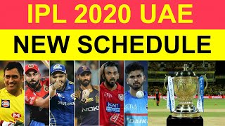 #IPL 2020 Full New Schedule for UAE | Indian Premier League All Match Time Table and Fixtures