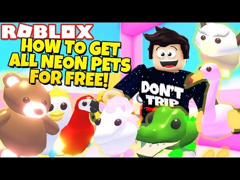 How To Get All Neon Pets For Free In Adopt Me New Jungle Update Roblox Minecraftvideos Tv