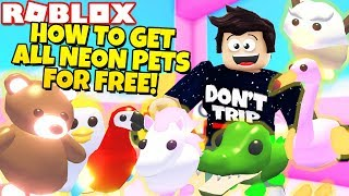 How To Get All Neon Pets For Free In Adopt Me New Jungle Update