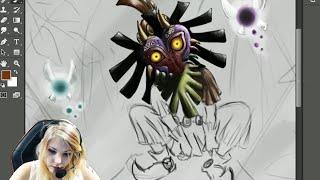 Jeel - Speed Painting : Skull Kid Majora's Mask