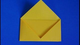 Как сделать конверт из бумаги а4 своими руками. Оригами для письма из листа.