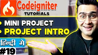 Codeigniter Mini Project Tutorial in Hindi/Urdu (Installation) | Project Introduction??