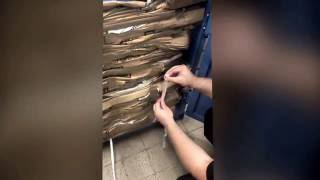 How to bail out the cardboard compactor