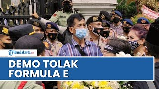 Massa Kembali Geruduk DPRD DKI Jakarta, Tolak Gelaran Formula E di DKI Jakarta