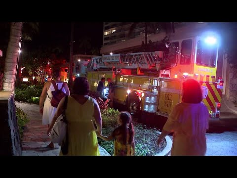 Hawaii authorities are investigating three fires that were intentionally set in different high-rise resort hotels near Waikiki Beach over the past few days. (Aug. 7)