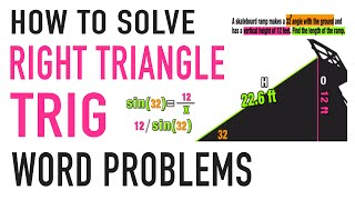 ☆TRIGONOMETRY WORD PROBLEMS PRACTICE