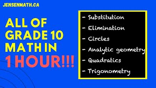 ALL OF GRADE 10 MATH IN ONLY 1 HOUR!!! | jensenmath.ca