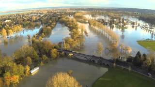preview picture of video 'Windsor Home Park Flood 2014'