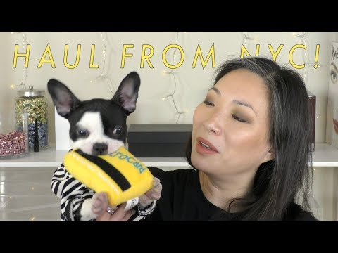 Makeup & Beauty Haul From NYC (plus Some Puppy Stuff!)