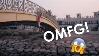 HE FELL OFF THE BRIDGE?!!