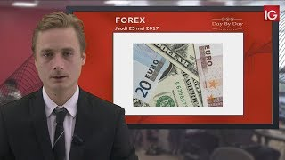 EUR/USD - Bourse - EUR/USD, correction au sein d'une tendance haussière - IG 25.05.2017