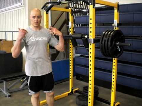 Standing Calf Raise with Safety Squat Bar
