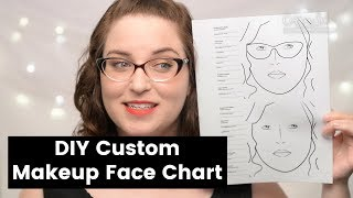 How To Create Your Own Makeup Face Chart!   CORRIE V