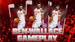 PINK DIAMOND BEN WALLACE GAMEPLAY!! 9 STEALS!  BEST CENTER IN NBA 2K19 MYTEAM!