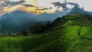 Sapa district 4K drone footage (Hoàng Liên National Park - Vietnam)