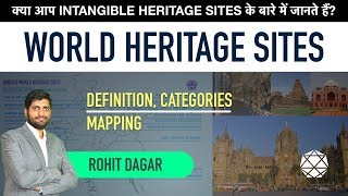WORLD HERITAGE SITES || Mapping, Definition, Categorisation, Intangible World Heritage Sites.