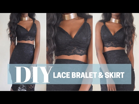 DIY LACE BRALET AND SKIRT in mins!