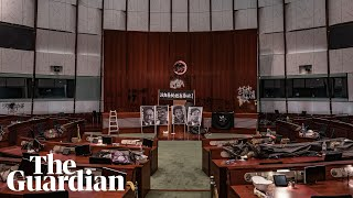 Inside Hong Kong's Legislature After Protesters Storm The Building
