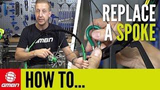 How To Replace A Broken Spoke   Mountain Bike Maintenance