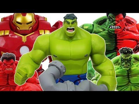 Hulk & Hulkbuster Go~! Defeat the Thanos, Venom! Avengers, Spider-Man, Iron Man, Captain America