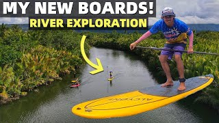 BecomingFilipino – BUYING FILIPINO MADE BOARDS – First Local River Paddle Adventure (Davao, Philippines)
