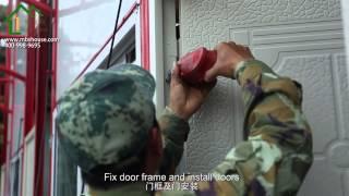 prefab house installation  video
