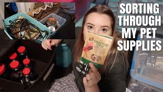 Sorting Through My Mess Of Pet Supplies! | Organizing The Mess + Moving Prep!