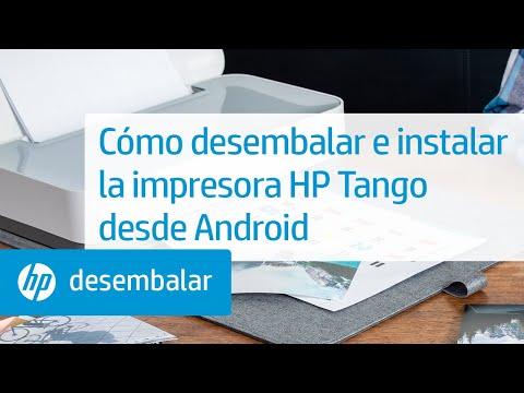 Cómo desembalar e instalar las impresoras de la serie HP Tango desde Android