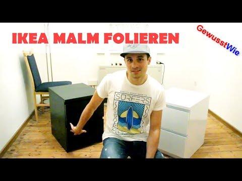 IKEA MALM folieren - Kommode Schrank folieren - Learning by Doing