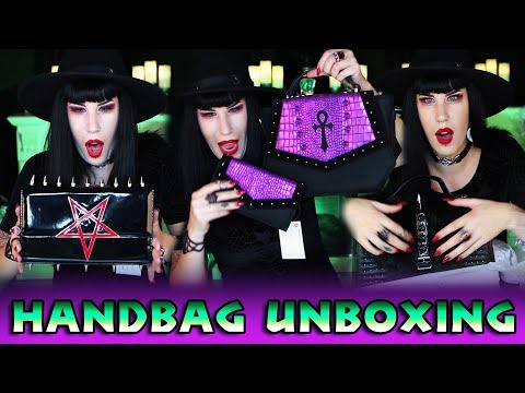 Epic Handbag Unboxing: Black Friday, The Goblin Queen, Drac, Mahafsoun + MORE  | Avelina De Moray